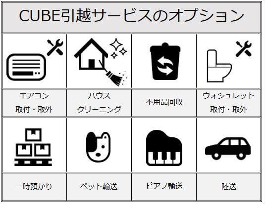CUBE引越サービスのオプションサービス